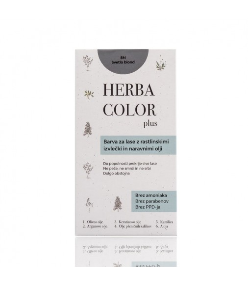 Herba Color - 8N svetlá blond